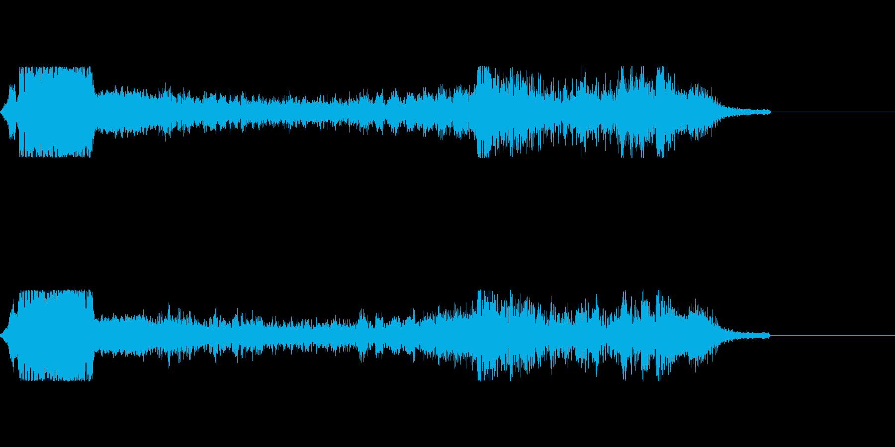 海外FMラジオジングルぽい音の再生済みの波形