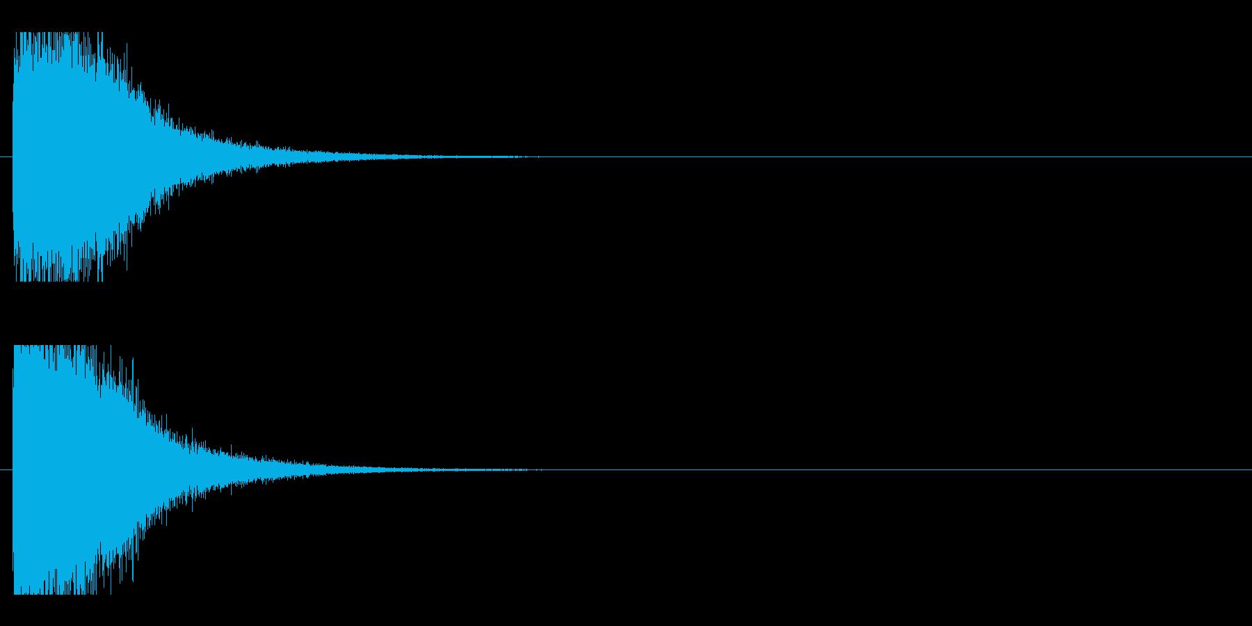 レーザー音-77-1の再生済みの波形