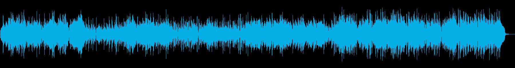 クラリネットとアコーディオのパリ風楽曲の再生済みの波形