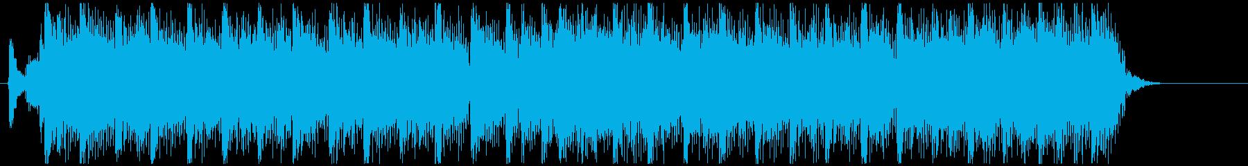 スピード感のあるギターバンドのジングルの再生済みの波形