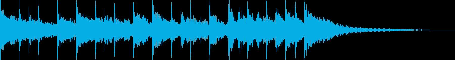 ギター、グロッケンシュピール、ピア...の再生済みの波形