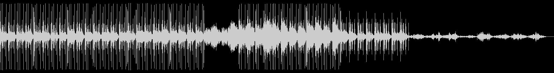 ミニマル系ディープビートとシンセサウンドの未再生の波形