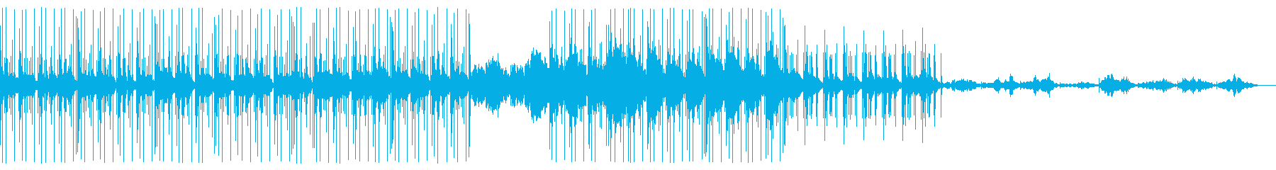 ミニマル系ディープビートとシンセサウンドの再生済みの波形