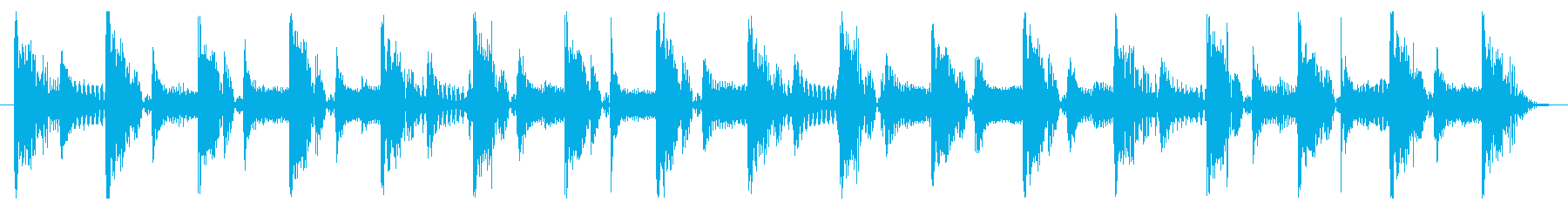 ベース生演奏のクールスラップジングル06の再生済みの波形