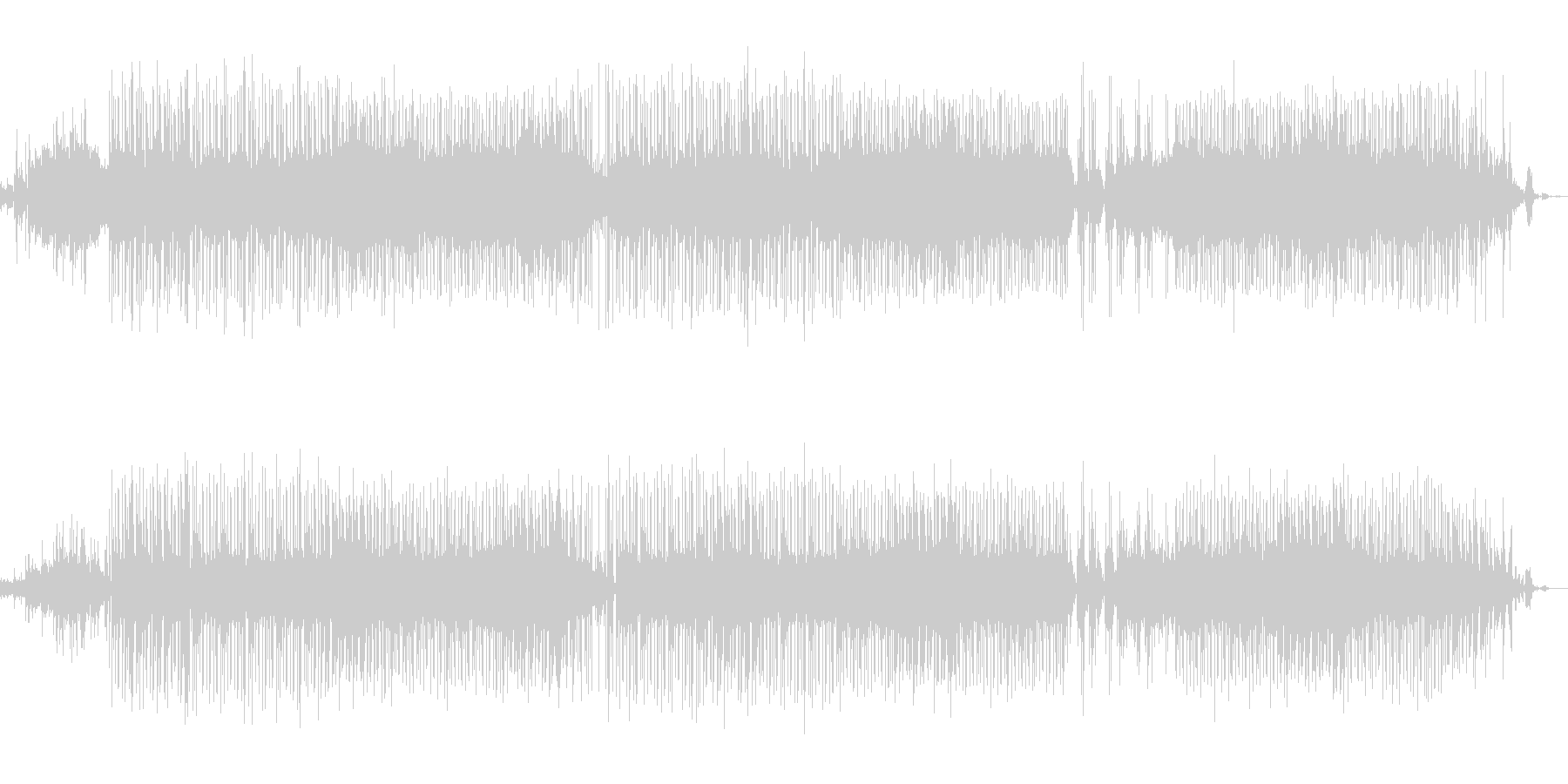 綺麗な雰囲気のピアノR&B調サウンドの未再生の波形
