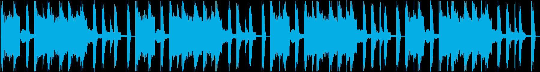 暗い曲ですの再生済みの波形