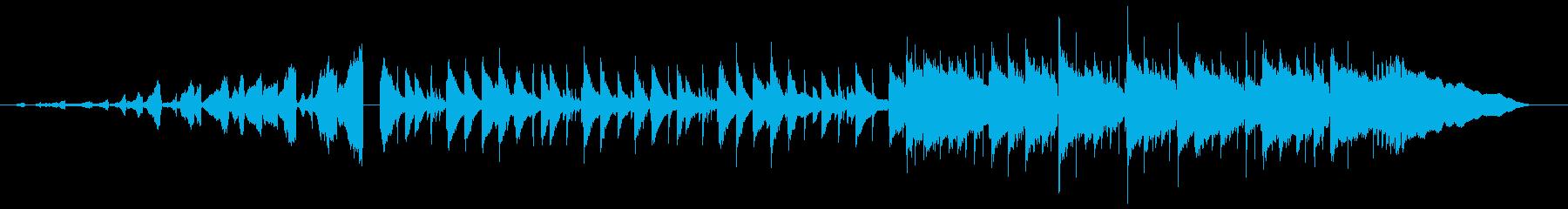 儚げなピアノ中心のポップスバラードの再生済みの波形