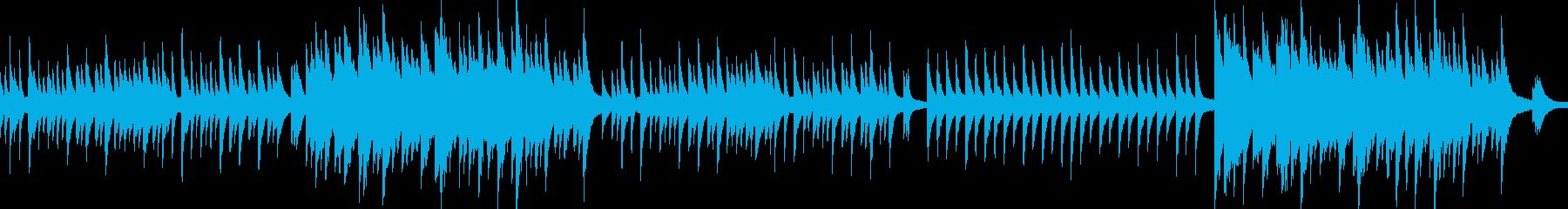 ループ 穏やかで美しく切ないピアノソロ曲の再生済みの波形