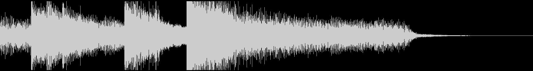 短いピアノのオープニング曲、おしゃれの未再生の波形