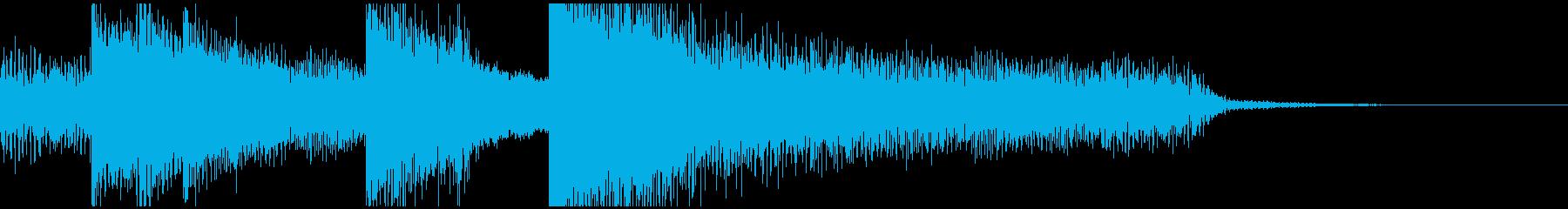 短いピアノのオープニング曲、おしゃれの再生済みの波形