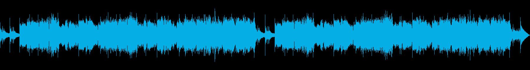 穏やかなメロディで奏でるBGMの再生済みの波形