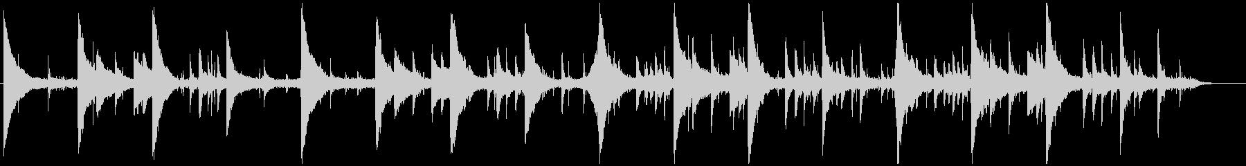 海の神殿 ピアノ 琴 水の音 ヒーリングの未再生の波形