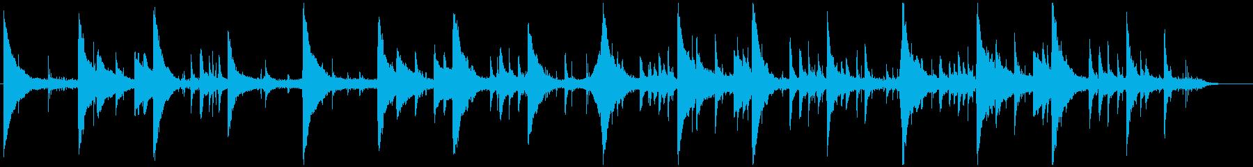 海の神殿 ピアノ 琴 水の音 ヒーリングの再生済みの波形