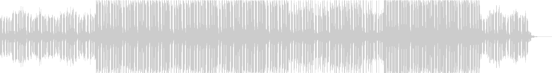 EDM系のサウンドで抑揚の少ない曲ですの未再生の波形