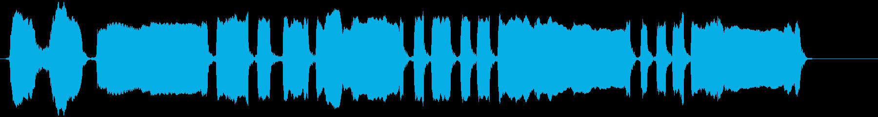 吹くパーティーのノイズメーカーの再生済みの波形