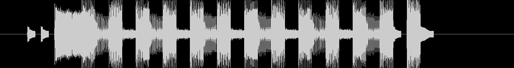 レトロゲームなチップチューンジングル19の未再生の波形