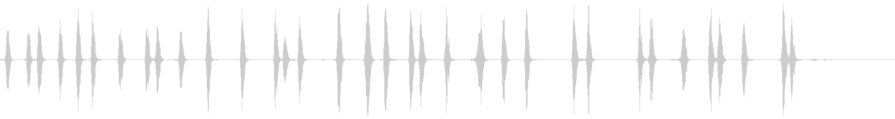 犬-樹皮4の未再生の波形