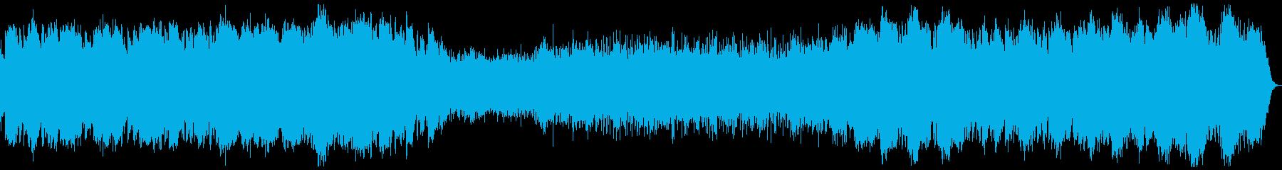 無物質を表したようなヒーリング系BGMの再生済みの波形
