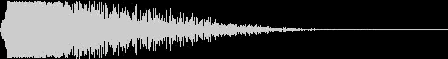 テレビ番組・CMイメージテロップ音Bの未再生の波形
