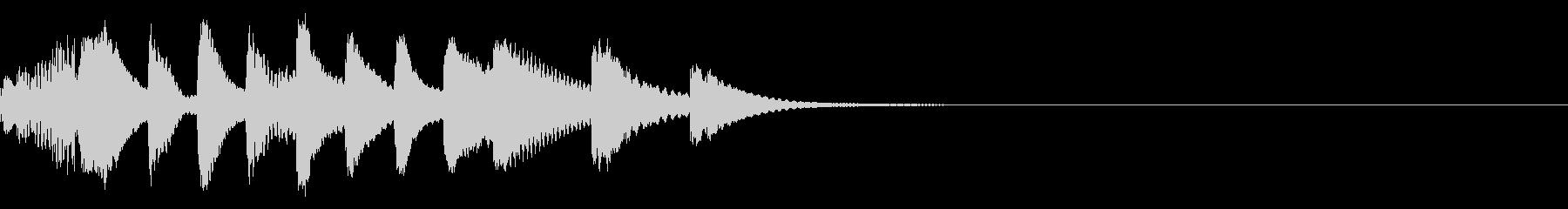 マリンバのほのぼのとしたジングルの未再生の波形