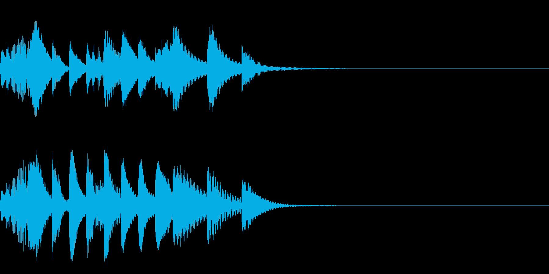 マリンバのほのぼのとしたジングルの再生済みの波形