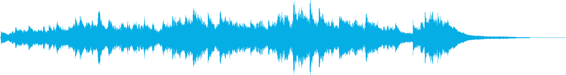 流れる様なピアノ曲の再生済みの波形