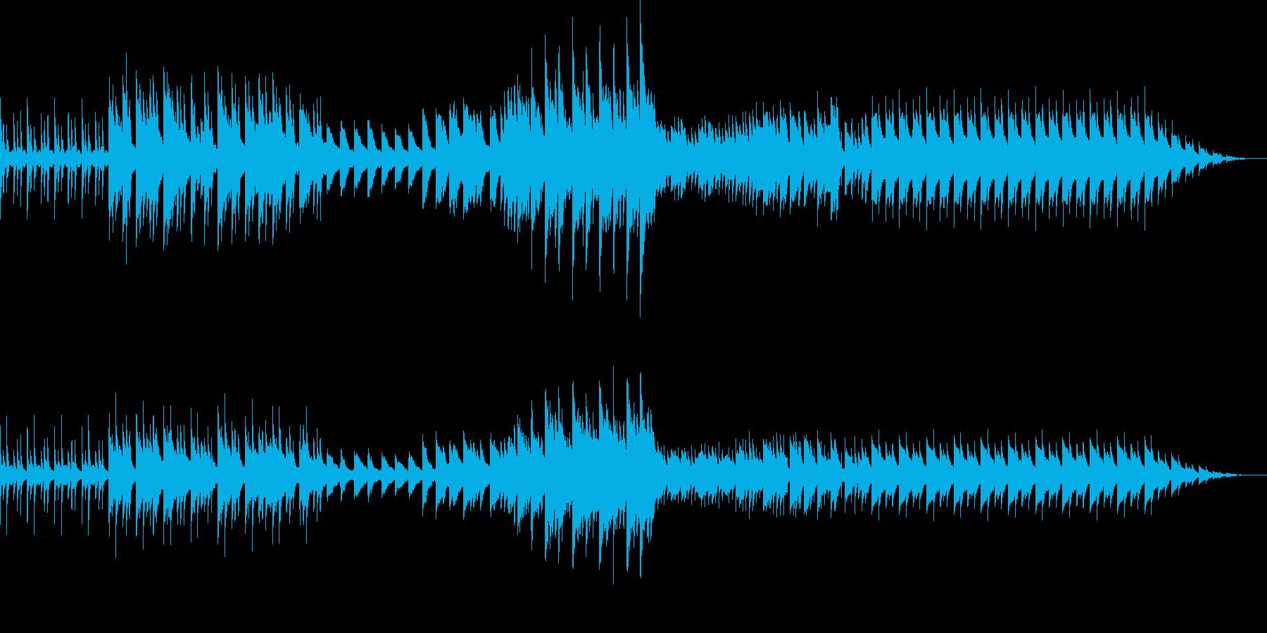 ダークなピアノのサウンドの再生済みの波形