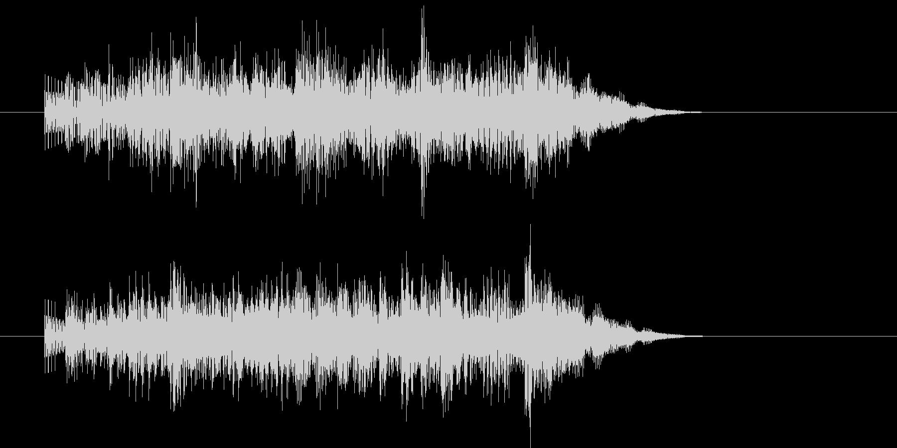 ステージクリアの効果音の未再生の波形