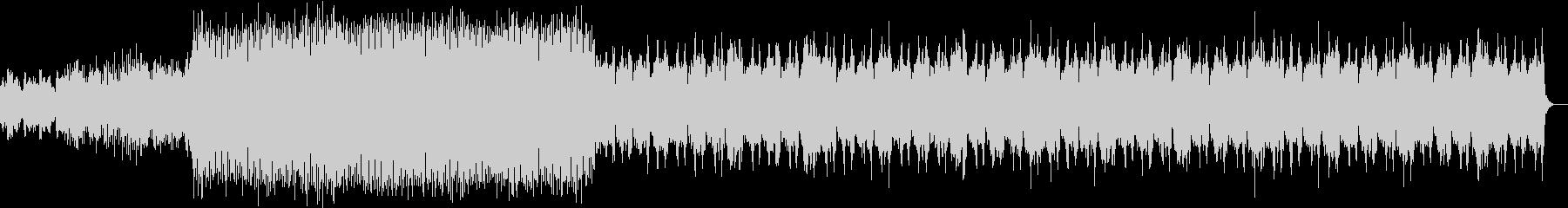 緊迫する場面で使えるロック調の曲の未再生の波形