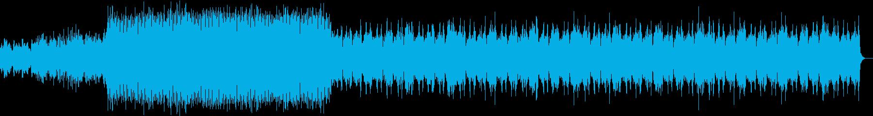 緊迫する場面で使えるロック調の曲の再生済みの波形