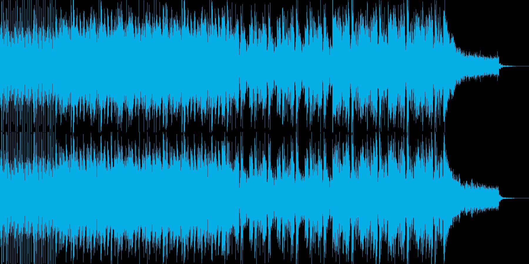 オープニング系エレクトロミュージックの再生済みの波形