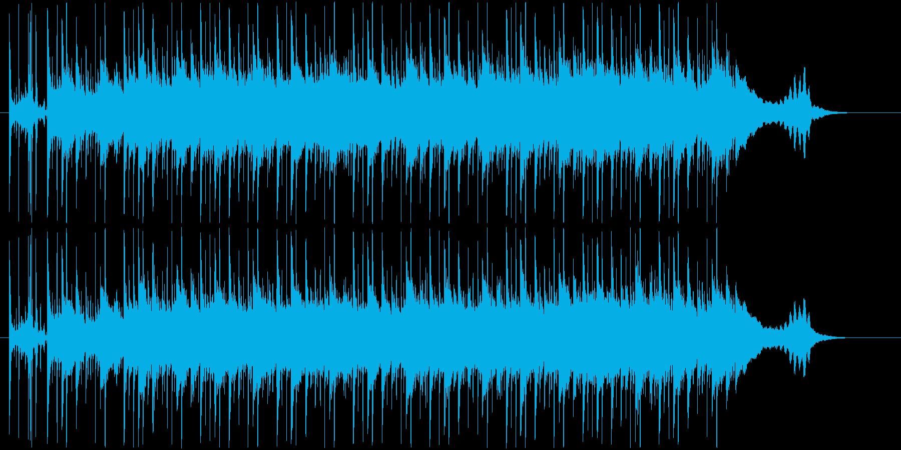 多重アコギとパーカッションの再生済みの波形