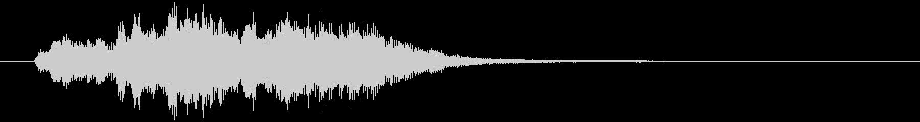 シンプルで使いやすいジングル、ロゴ。の未再生の波形