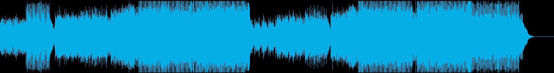 煌びやかなHouseの再生済みの波形