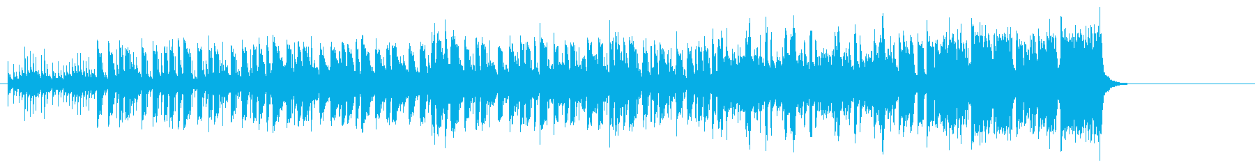 滑稽で怪しい淡々としたBGMの再生済みの波形