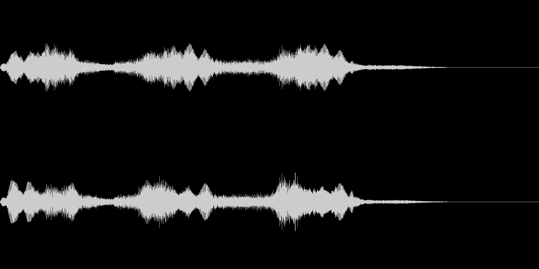 ホラー風の低音ズーンの未再生の波形