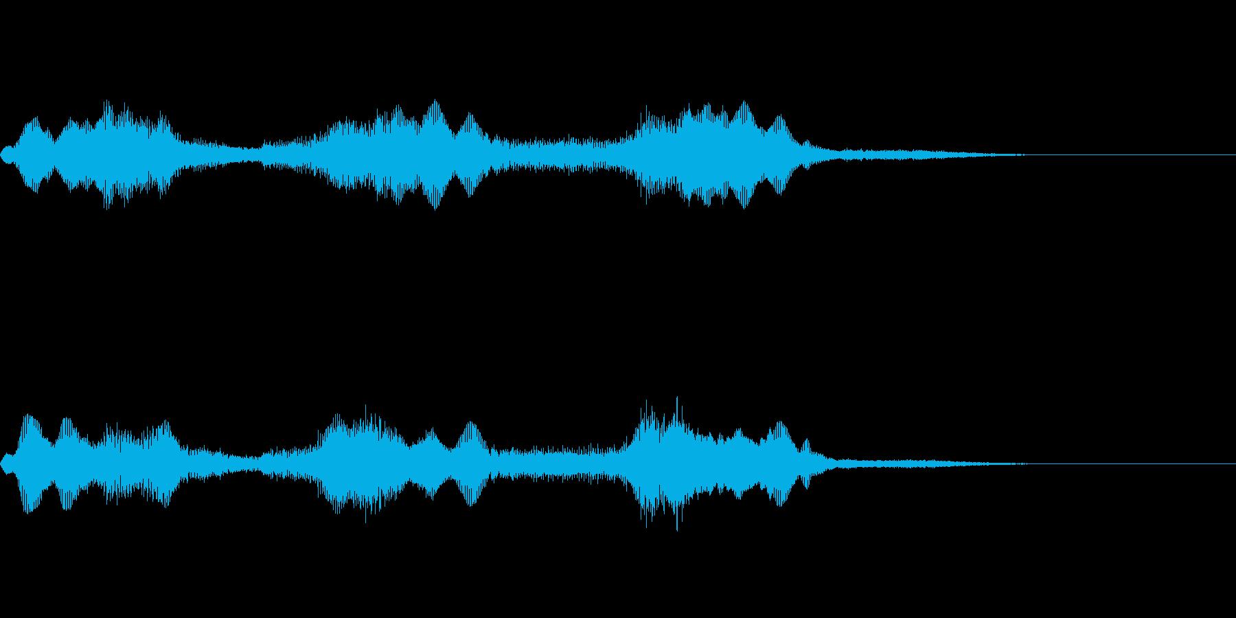 ホラー風の低音ズーンの再生済みの波形