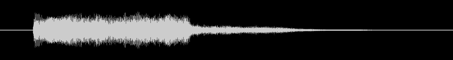 ロボットの声、大、深、電子; DI...の未再生の波形
