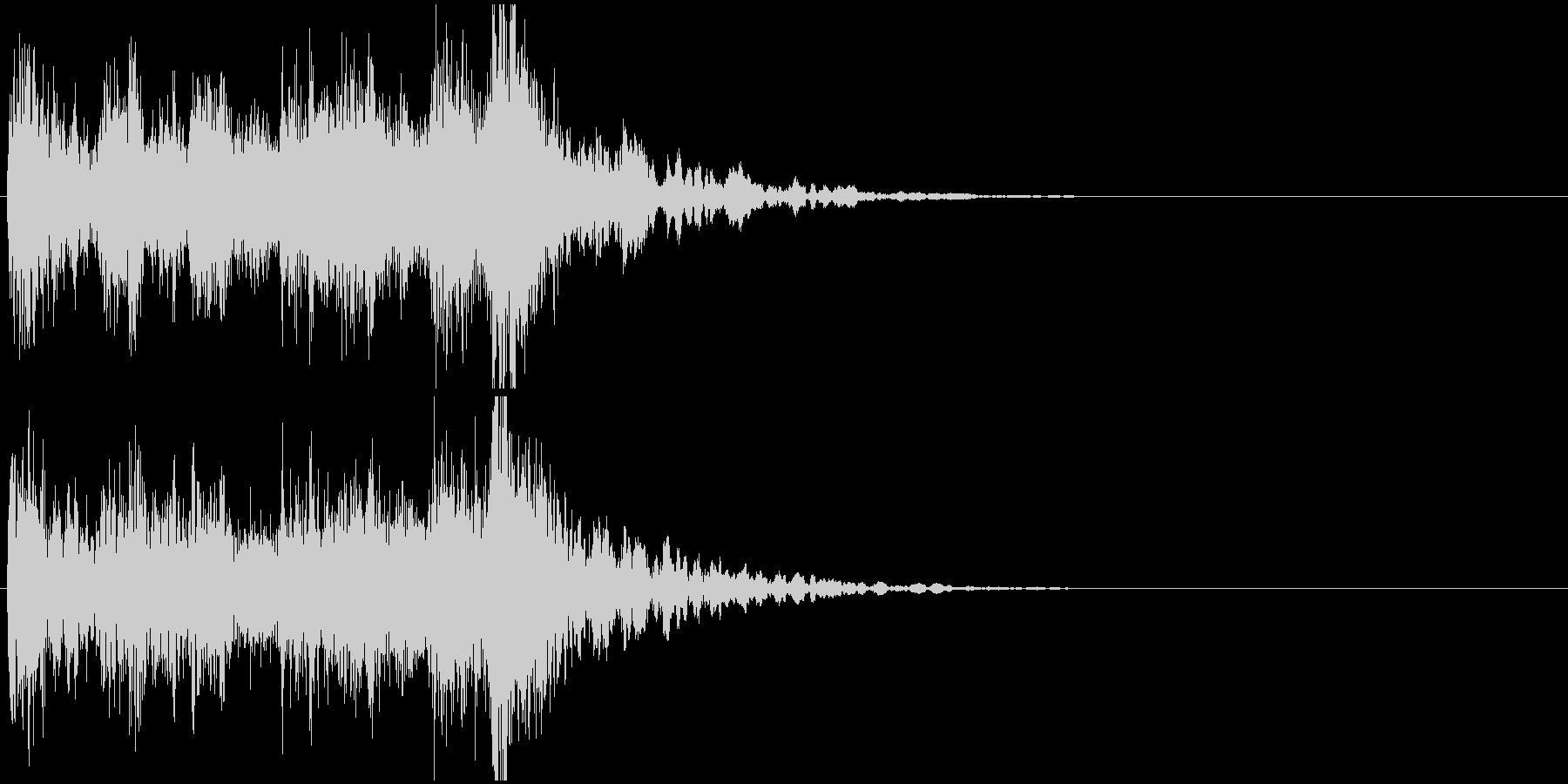 ジングル(ステージクリア・結果画面)の未再生の波形