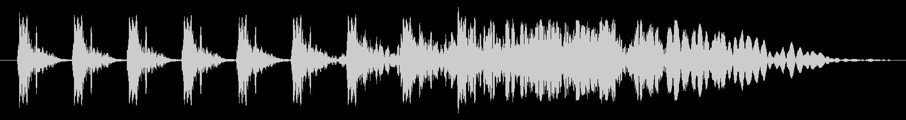 クイック厚いSt音ヒューシュー1の未再生の波形