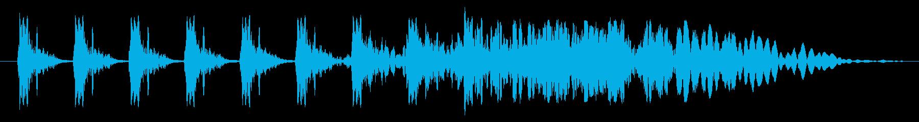 クイック厚いSt音ヒューシュー1の再生済みの波形