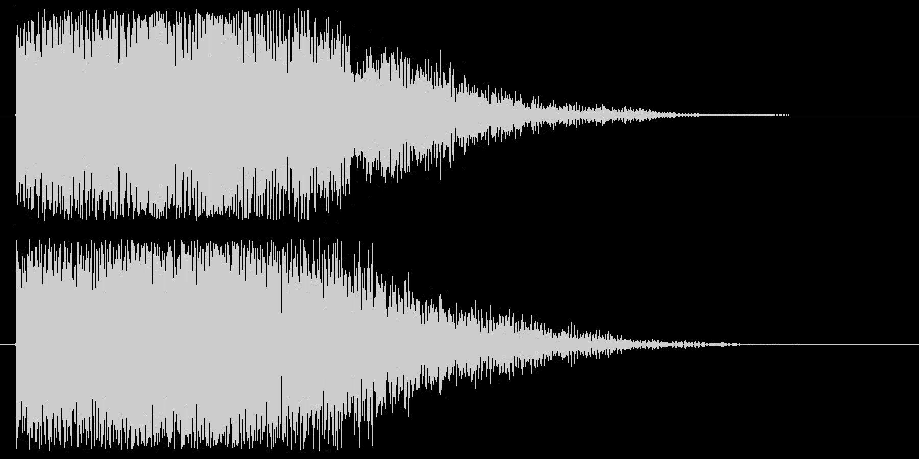 【決定音 2】 暗い,不気味,ボタン音の未再生の波形