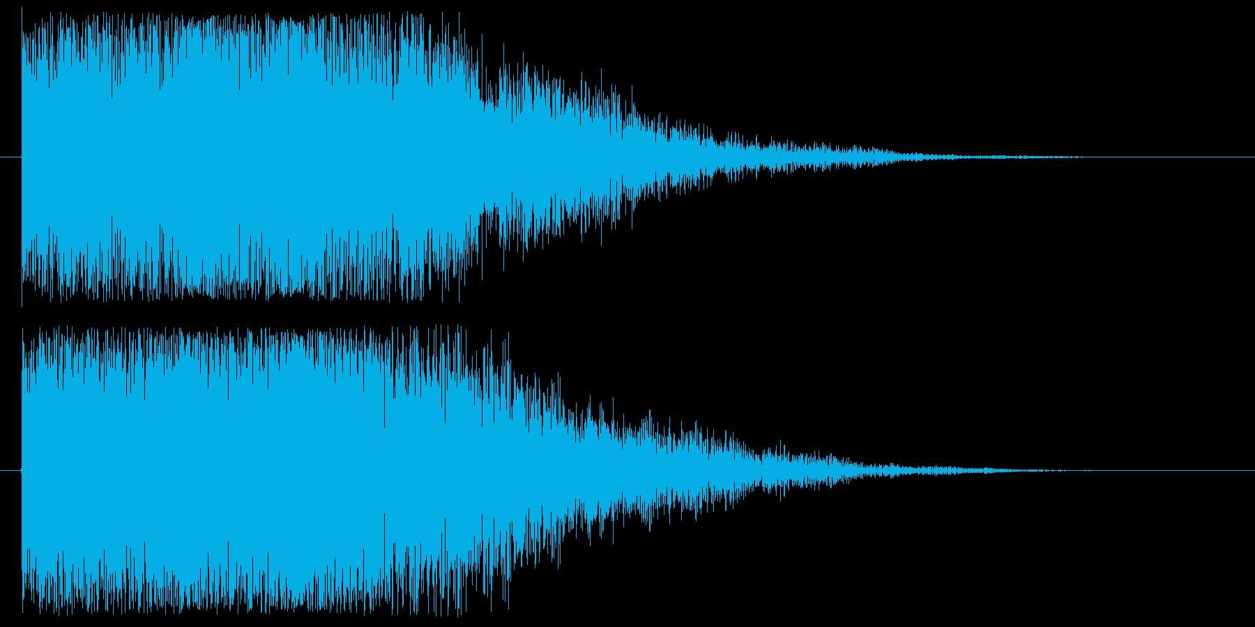 【決定音 2】 暗い,不気味,ボタン音の再生済みの波形