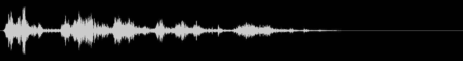 鳥のさえずり/チュンチュン/鳴き声の未再生の波形