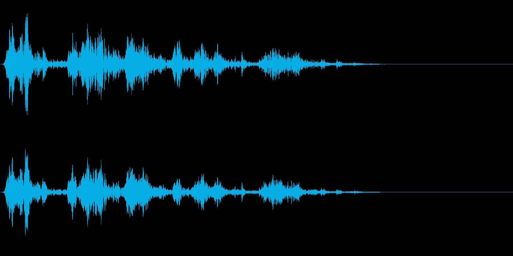 鳥のさえずり/チュンチュン/鳴き声の再生済みの波形