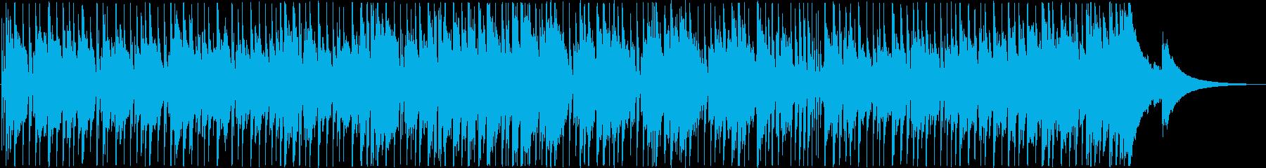 明るいシンセサイザーの爽やかな曲の再生済みの波形