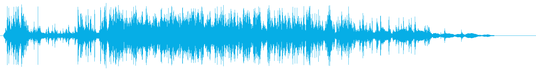 細かいものを落とした音の再生済みの波形