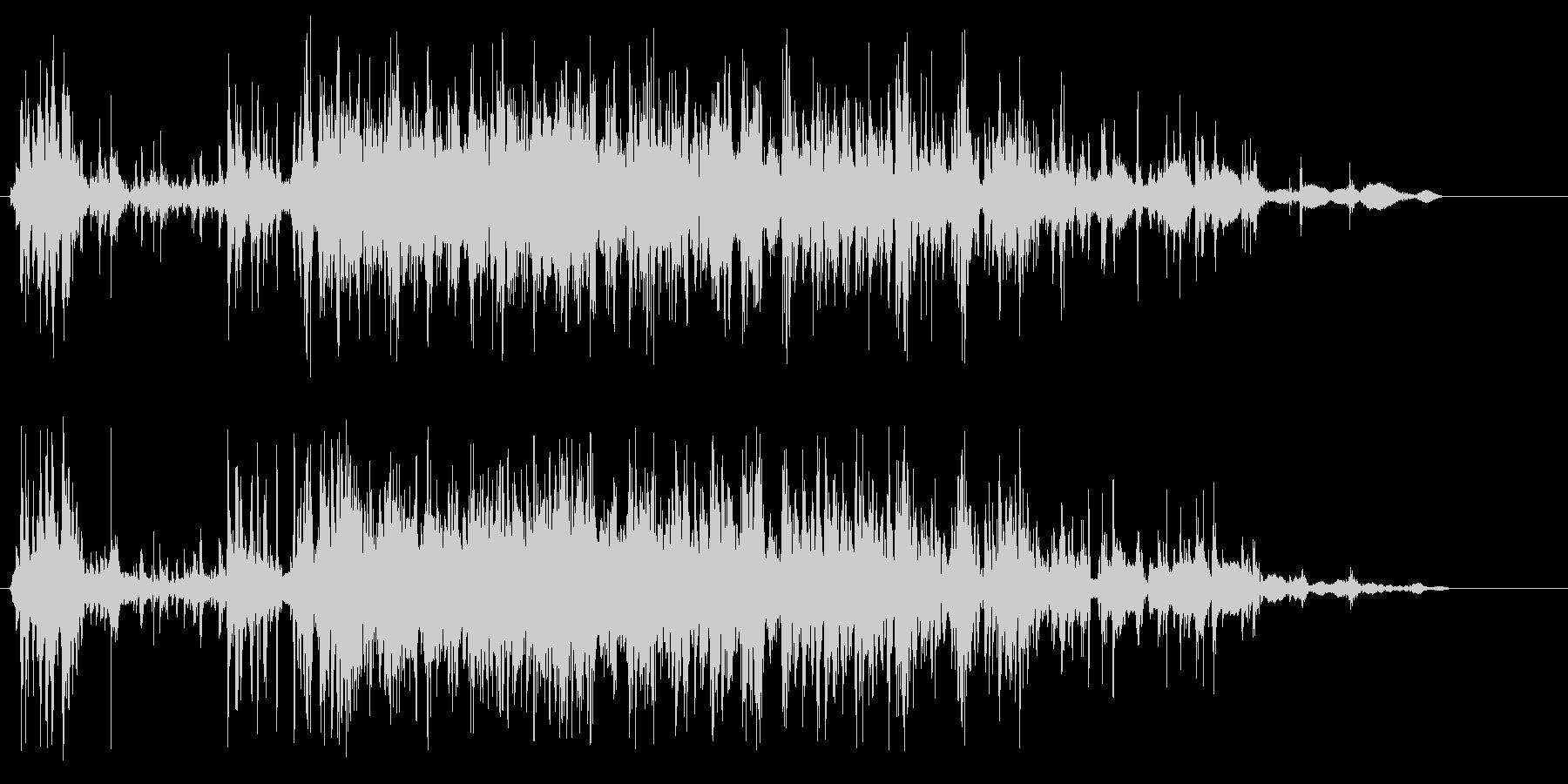 細かいものを落とした音の未再生の波形