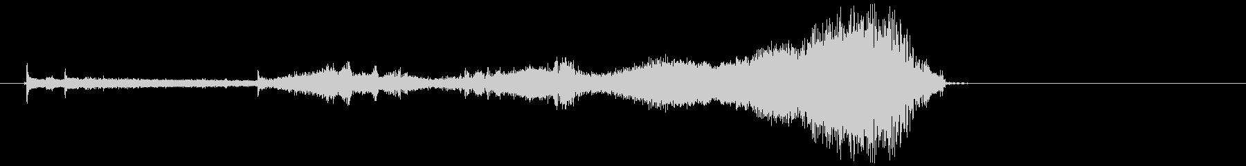 SF タイムスリップ、時空が歪むような音の未再生の波形