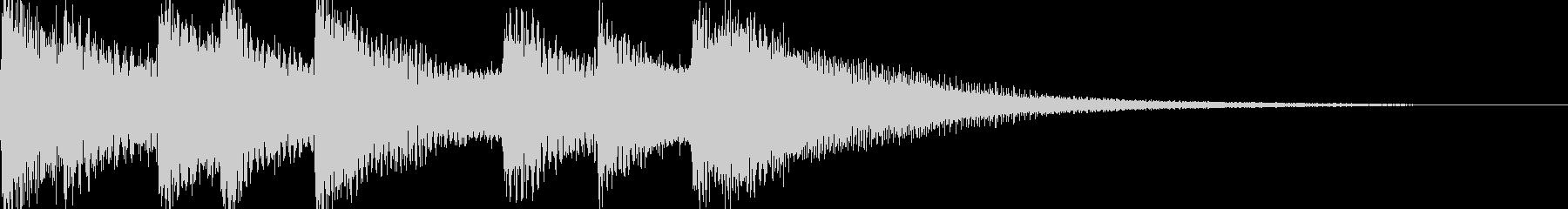シンプルなジングル【ピアノ】その5です。の未再生の波形